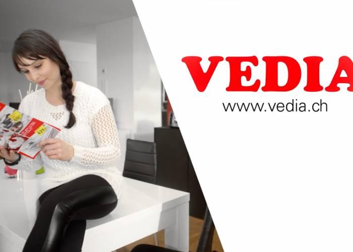 Vedia TV Kampagne (2-sprachig)
